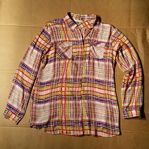 Cabi Cheerful Rayon Shirt. L